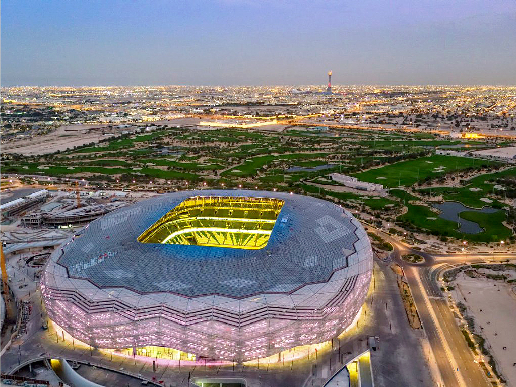 Popularmente chamada de Diamante do Deserto, o Education City Stadium é considerada a arena mais sustentável do mundo